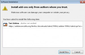 How to install firefox addons