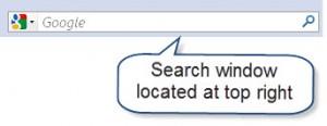 using firefox search box