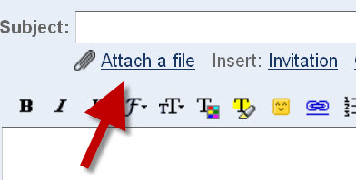 how to attach a file to email