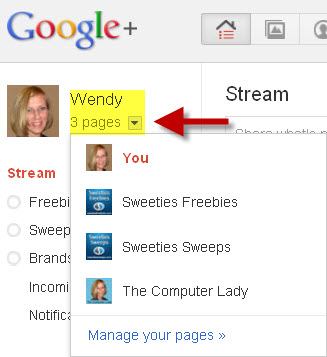 how to view all of your Google Plus Fan pages