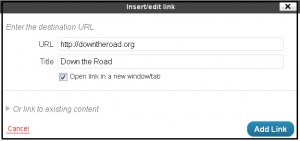 how to insert a link wordpress