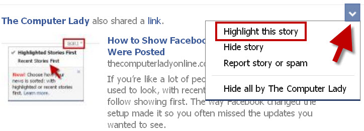 how to see facebook fan pages newsfeed