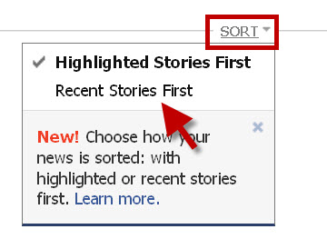 By choosing Recent Stories you will be able to see posts in your Facebook stream in the order they originally posted on your wall.