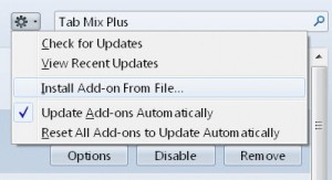 how to update firefox addons
