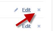 edit or delete facebook application settings