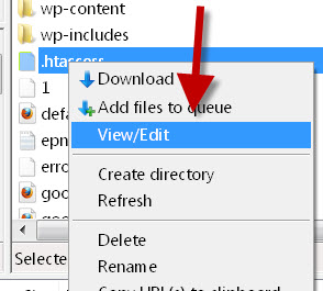 how to modify the htaccess file