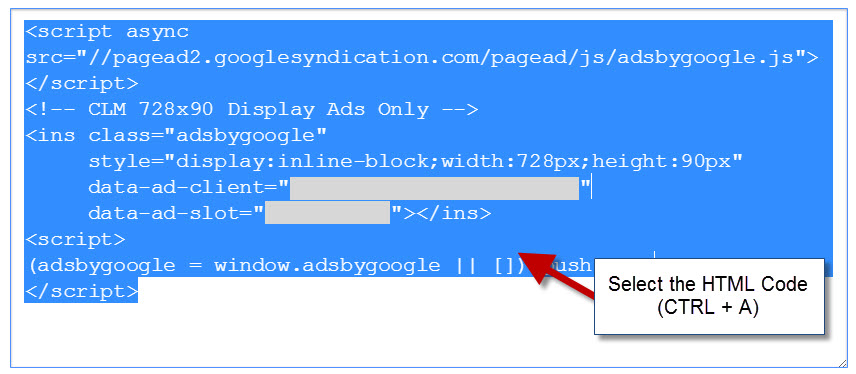 How to Copy and Paste HTML into a Blog Post, Code Adsense codes, scripts
