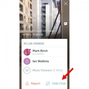 How to Get Chat and also Hide Chat in Periscope