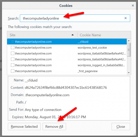 How to Remove Individual Cookies from Firefox