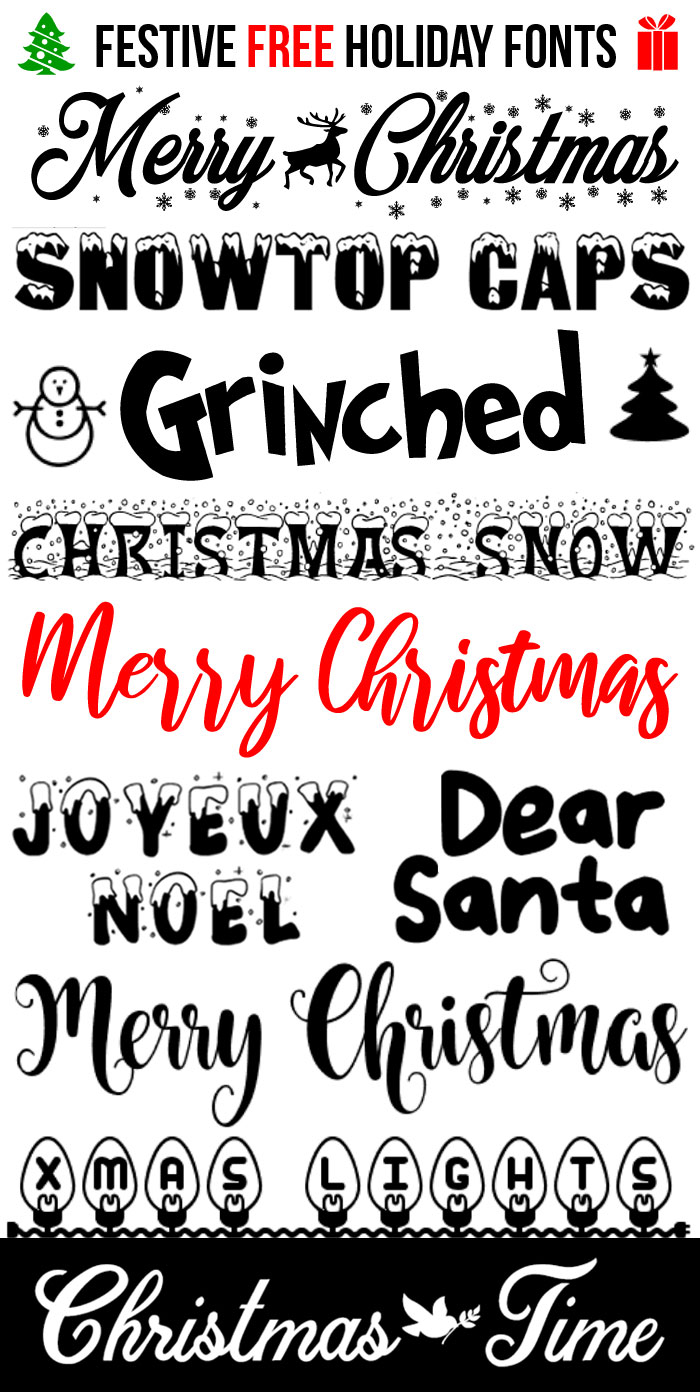 Merry Christmas Fonts Images.10 Free Festive Christmas Fonts