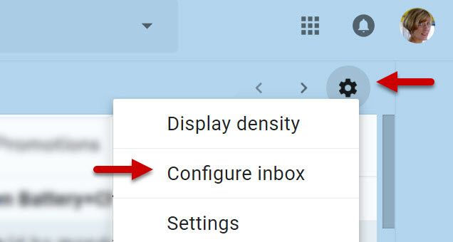 Configure and Disable Gmail Inbox Tabs