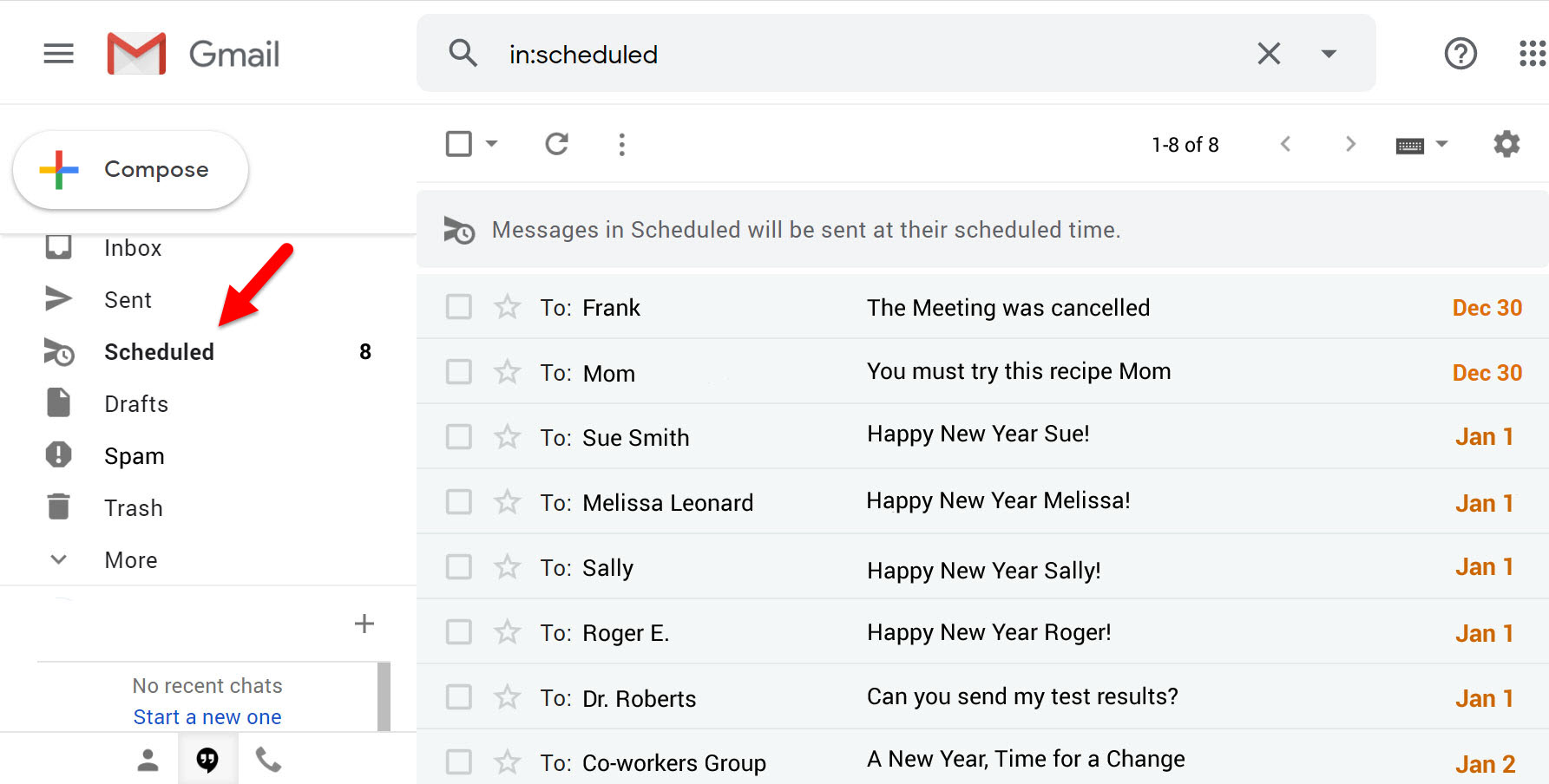 How to Find Your Gmail Scheduled Emails