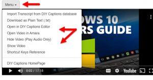 Edit Captions in Quick Editor
