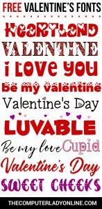 10 Free Valentines Fonts
